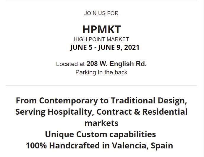 HIGH POINT MARKET JUNE 5 - JUNE 9, 2021